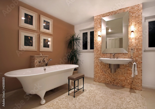 Leinwanddruck Bild Interior of bath room in modern house