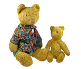 Two ancient toys -  plush a bears poster