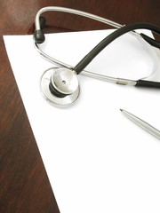 Stethoscope on desk - 1