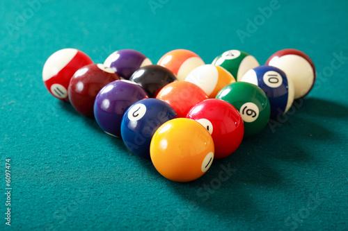 Staande foto billiard-ball