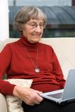 Activ senior woman poster