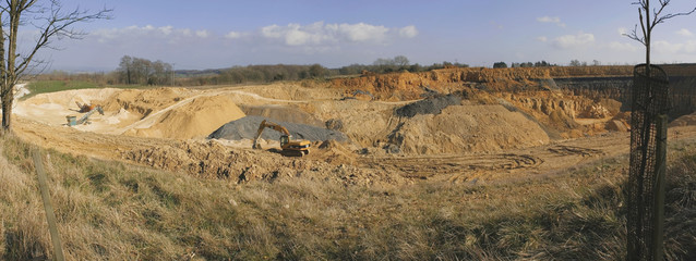 A quarry in the cotswolds from broadway tower country park..