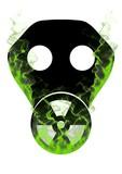 Toxic mask and smoke poster