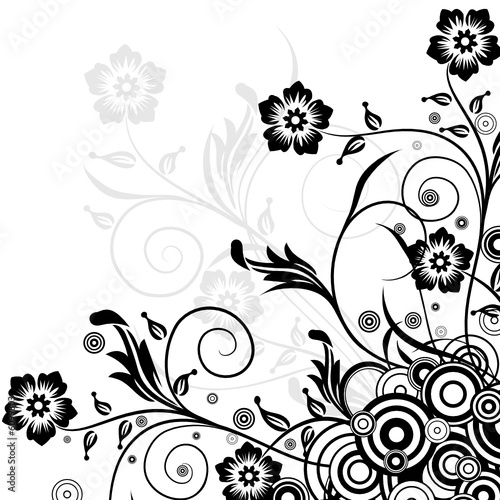 Decorative floral background, vector illustration © Tolchik