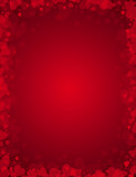 Fototapety red background for valentines day,  illustration