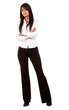 business woman standing isolated over