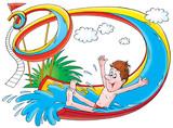 Summer amusement poster