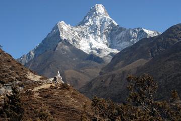 Ama Dablam with Stupa