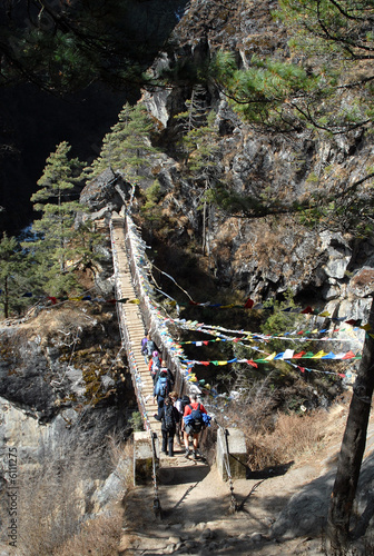 suspension bridge - khumbu valley