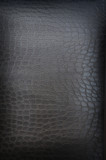 very dark brown crackled leather poster