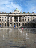 Somerset House Courtyard and Fountain, London poster