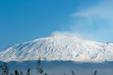 The volcano Etna on a background of the blue sky poster
