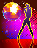 Vector background disco pary