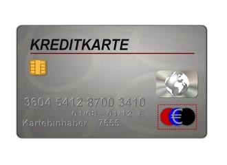 kreditkarte silber
