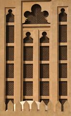 Dubai, Madinat Jumeirah wall detail