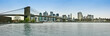 Panoramic view of Brooklyn bridge, New York