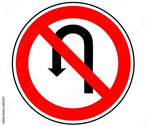 panneau de signalisation interdiction de tourner b2c photo libre de droits sur la banque d. Black Bedroom Furniture Sets. Home Design Ideas