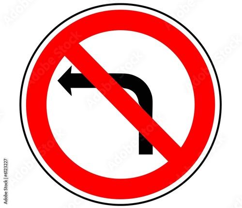 Panneau de signalisation interdiction de tourner b2a - Panneau signalisation interdiction ...