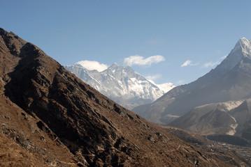 Everest, Lhotse and Ama Dablam with Khumbu Valley