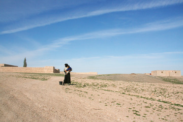 sozinha no deserto