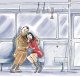 lovers in metro