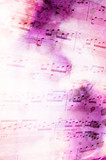 Fototapety Noten mit abstraktem Hintergrund, Musik
