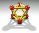 A 3d reflective atom poster