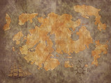 treasure map background poster