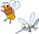 bee and mosquito  poster
