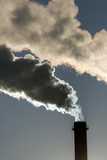 Industrial pollution, dangerous toxic smoke clouds  poster