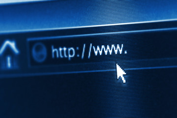 business and technology: internet url with some copy space