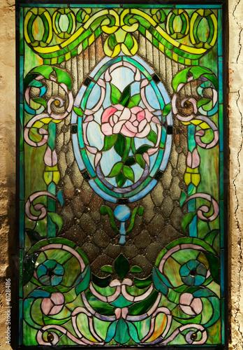 Beautiful stained-glass window - 6128486