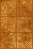 Geometrical ornament on an old paper poster