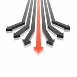 3D arrows (high resolution 3D image) poster