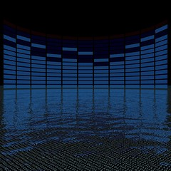 graphics equalizer (high resolution 3D image)