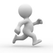 3d White Human Running Alone I...