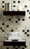 Shelf with beauty products in a spa or guest room. Ambient light poster