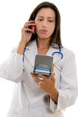 Healthcare worker giving medical information or advice