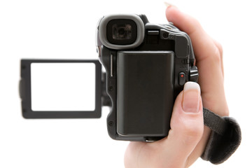 Holding a Camcorder