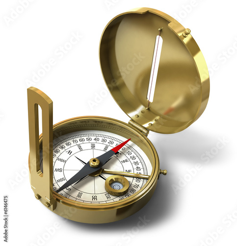 Compass with clipping path