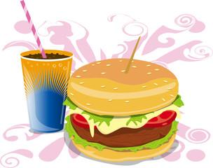 hamburguesa con refresco
