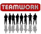 teamwork - silhouetten poster