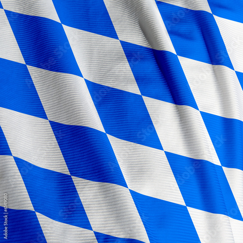 Close up of the Bavarian flag, square image