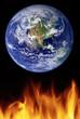 a photo illustration depicting global warming