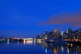 downtown vancouver in the twilight poster