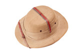 Safari hat isolated on white poster