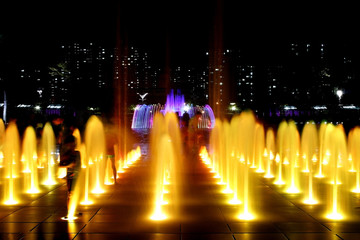 Series of Fountain at Night