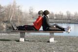 sport détente vitalité bien être santé jogging course pied endur poster