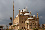 Saladin Citadel of Cairo, Egypt, under overcast sky poster