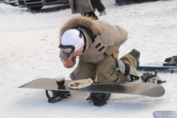 Fast food in snowboard